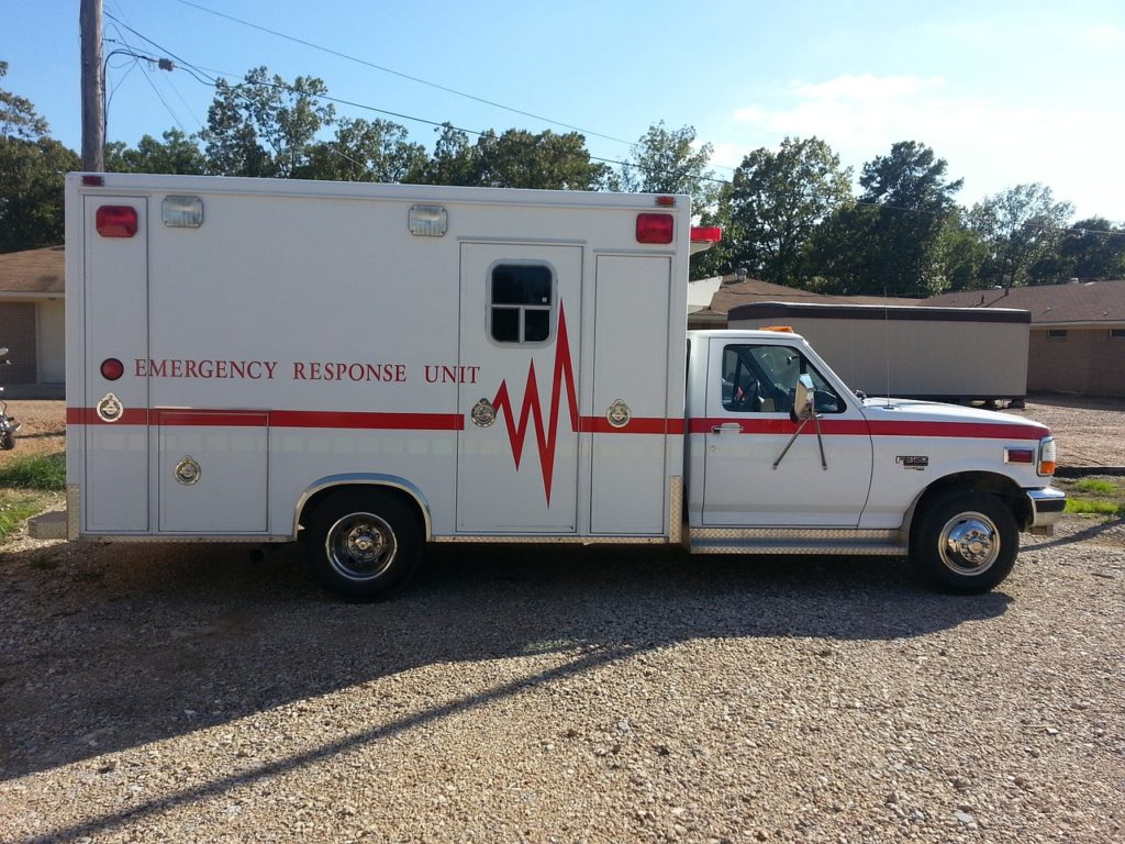EMT Training Ambulance Side View