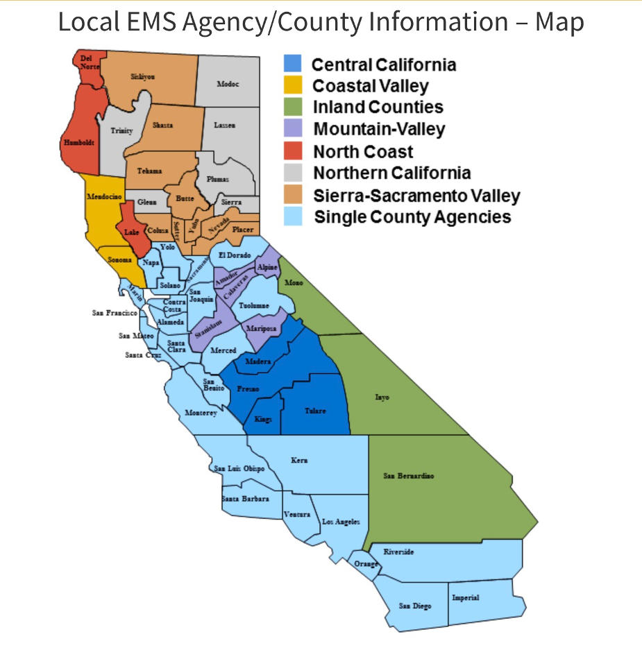 EMS County Map