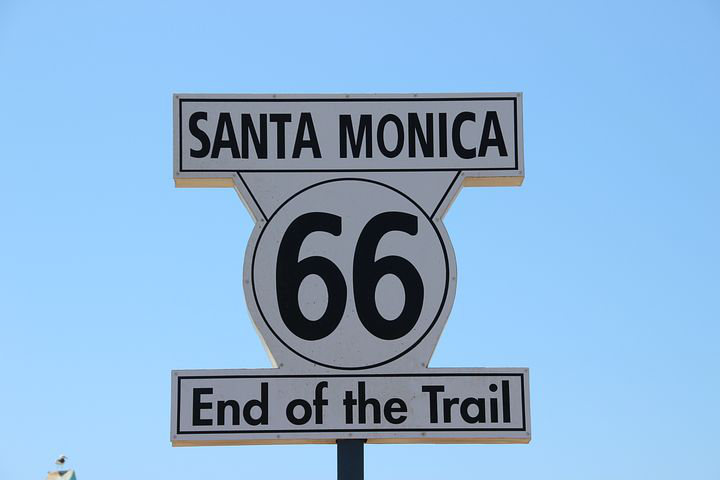 Route 66 The End Sign