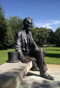 Seated Lincoln Bronze Statue Boise Idaho