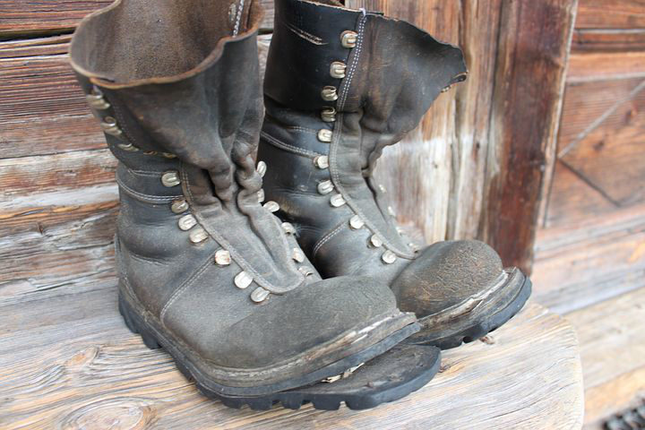 Old Pair of Duty Boots