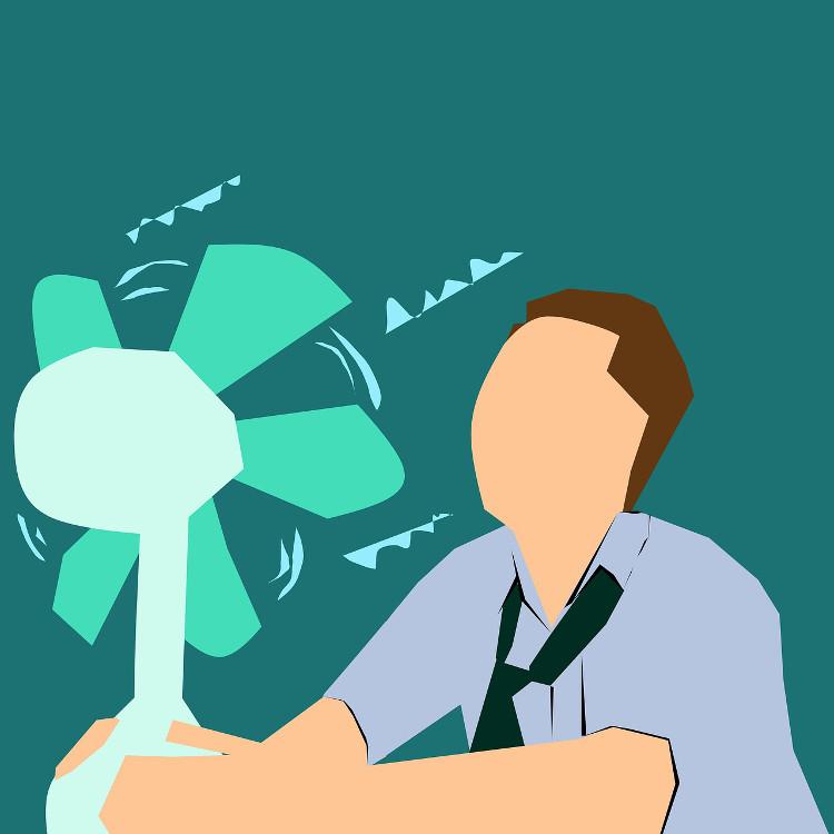 Heat exhaustion treatment fan