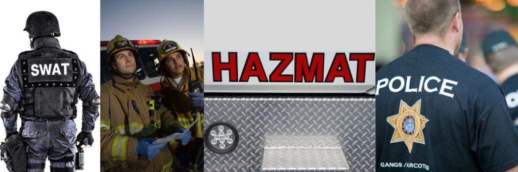 Swat Hazmat Fire Police